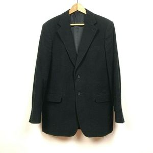 Express Mens Black Slim Fit Blazer Jacket